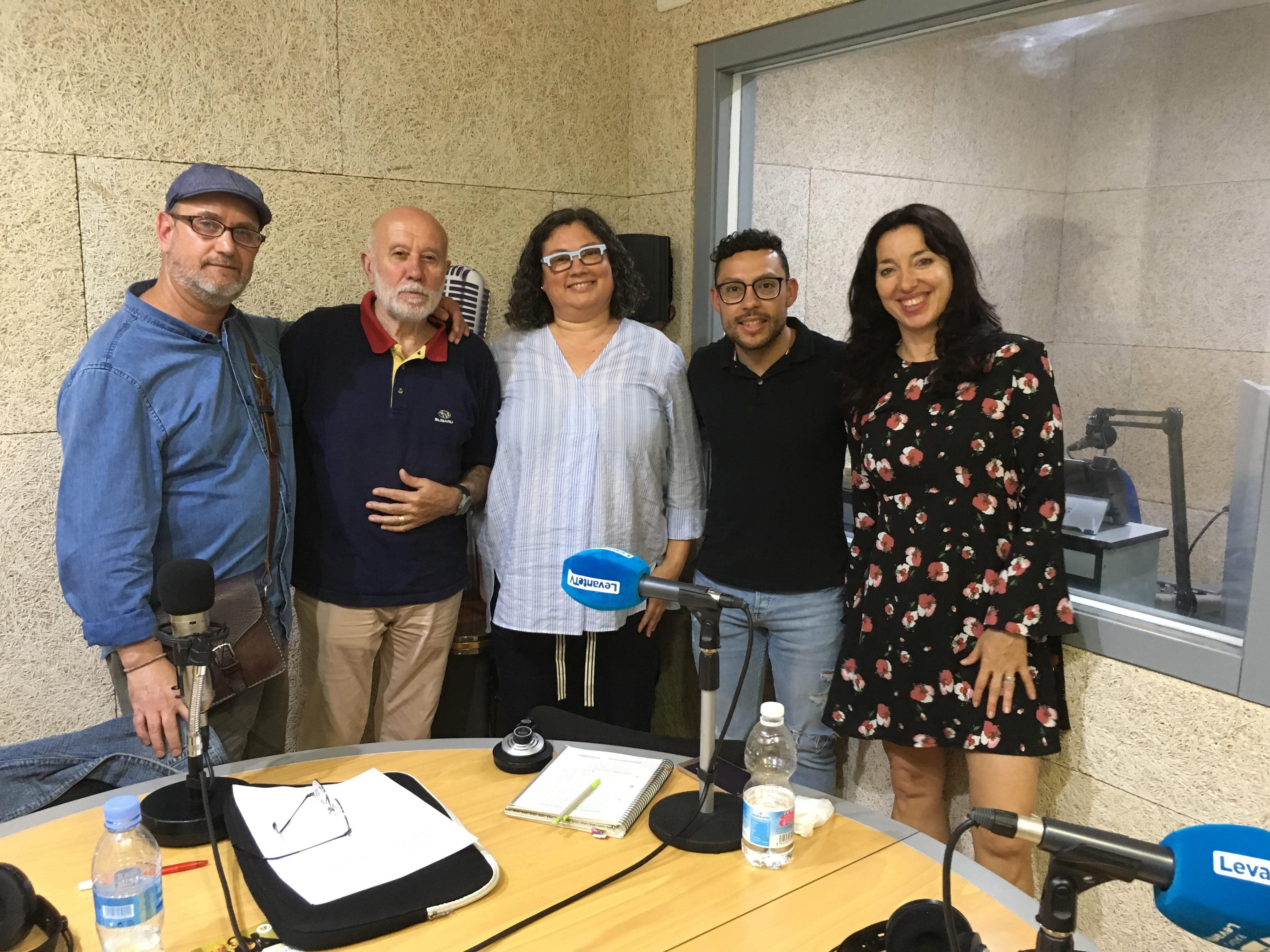 José Antonio Lozano, Ramiro Segrelles, Concha Romero del Toro, José Salinas y Ata Gomis en la 97.7 Radio